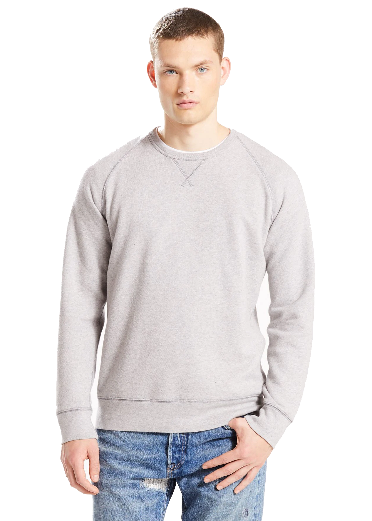Levi's Original Crew 3 (Medium Grey Heather) - ChicStyle
