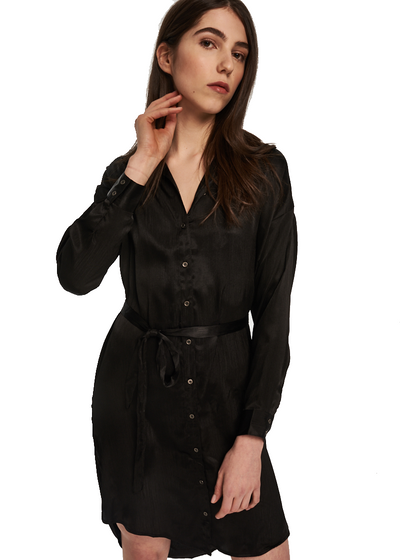 MINKPINK Piper Shirt Dress (Black) - ChicStyle