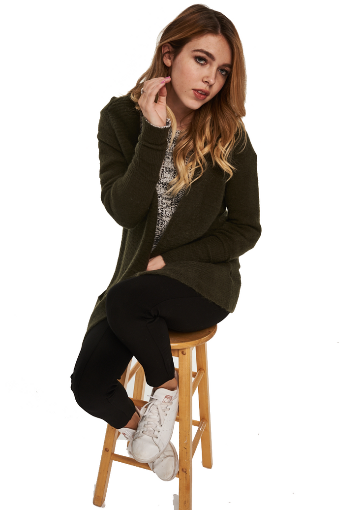 Just Female Potter Cardigan (Forest Night/Green) - ChicStyle