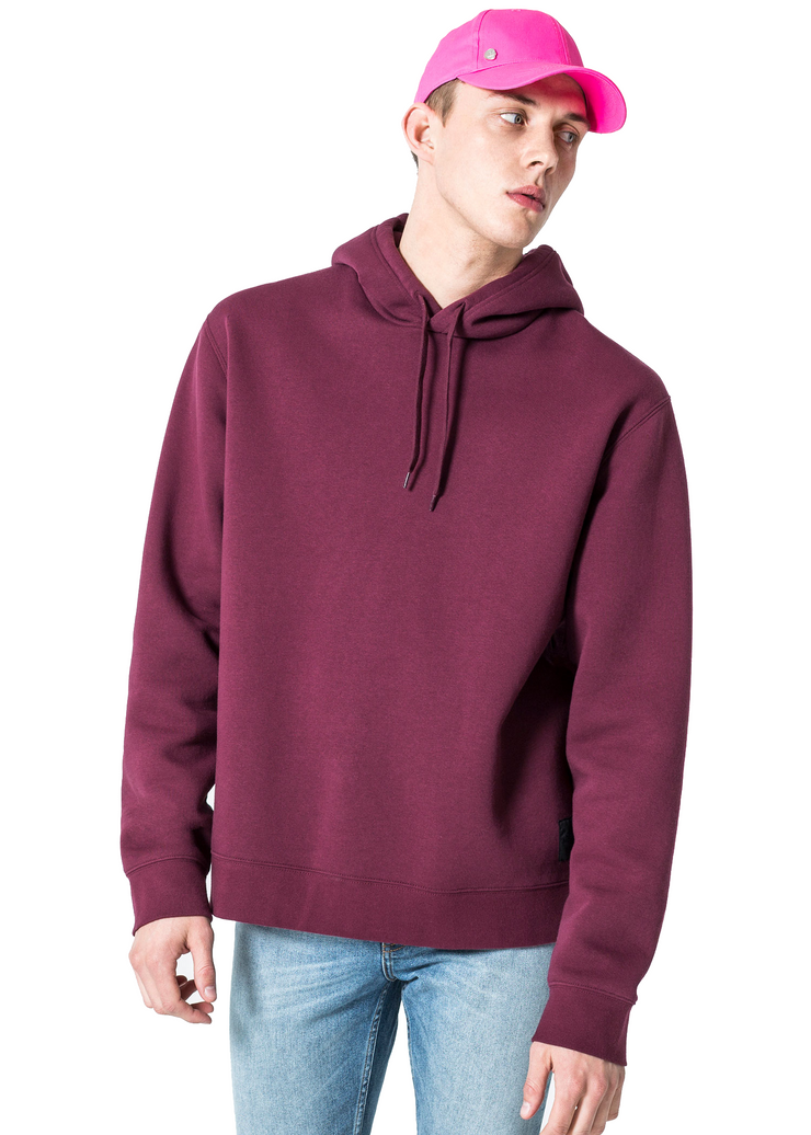 Cheap Monday Pullover Hood (Darkest Red) - ChicStyle