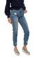 MINKPINK Slim Jim Cigarette Jeans (Antique Blue) - ChicStyle