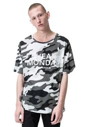 Cheap Monday Spacious Tee (Camo/White) - ChicStyle