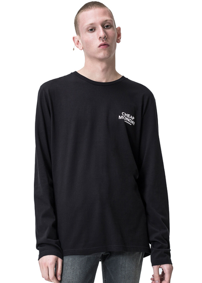 Cheap Monday Standard Long Sleeve *Organic Tee (Black) - ChicStyle