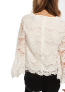 MINKPINK Tainted Love Lace Top (Off White) - ChicStyle