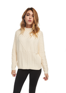 Just Female Turo Cable Knit (Optical White) - ChicStyle