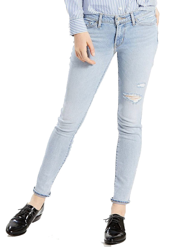 Levi's 711 Skinny Jeans (Lets Run Away/Light Blue) - ChicStyle