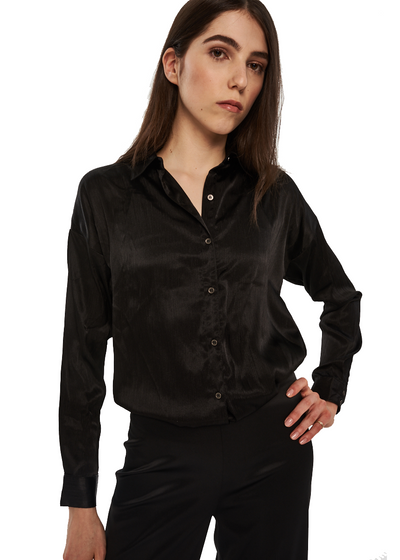 MINKPINK Piper Oversize Shirt (Black) - ChicStyle