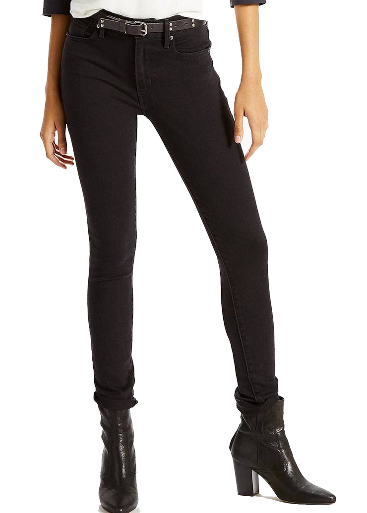 Levi's 721 High Rise Skinny (Soft Black) - ChicStyle