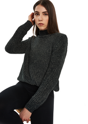 Just Female Velvet Knit (Woods Green) - ChicStyle