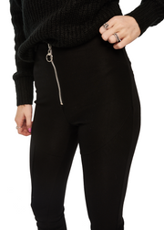 MINKPINK Zip Fly Leggings (Black) - ChicStyle