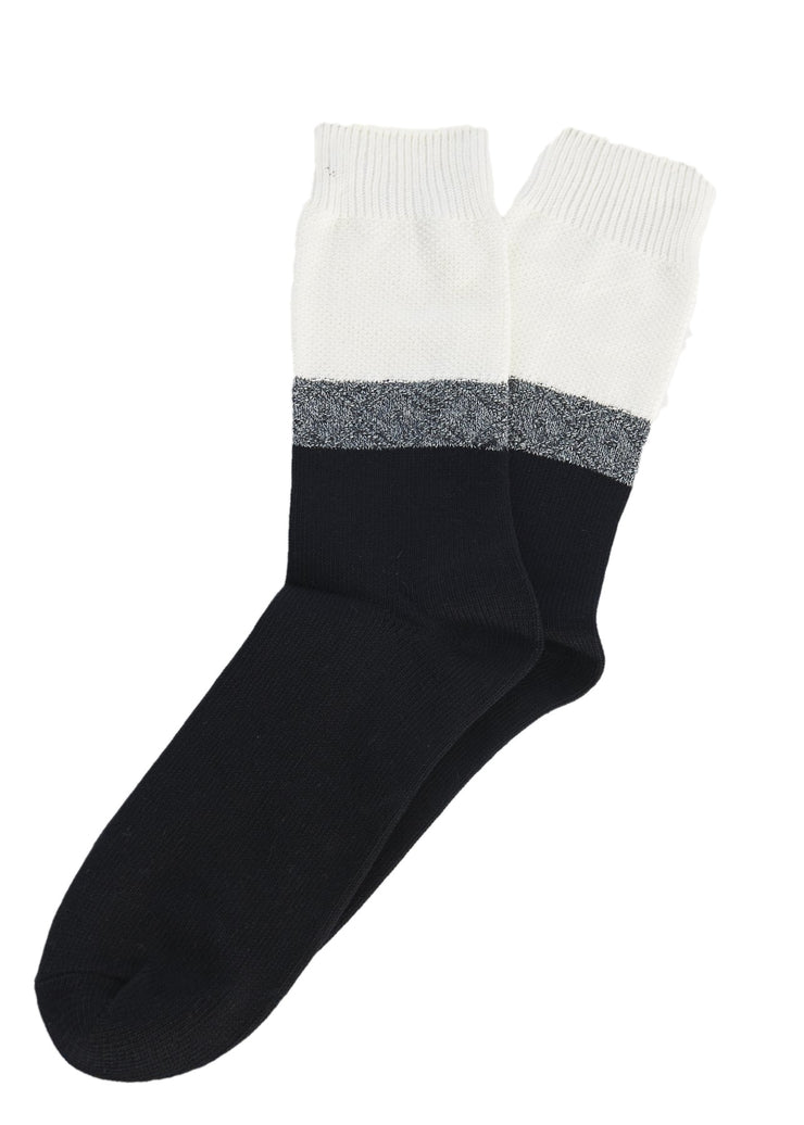 N/A Mid Calf Socks (White) - ChicStyle