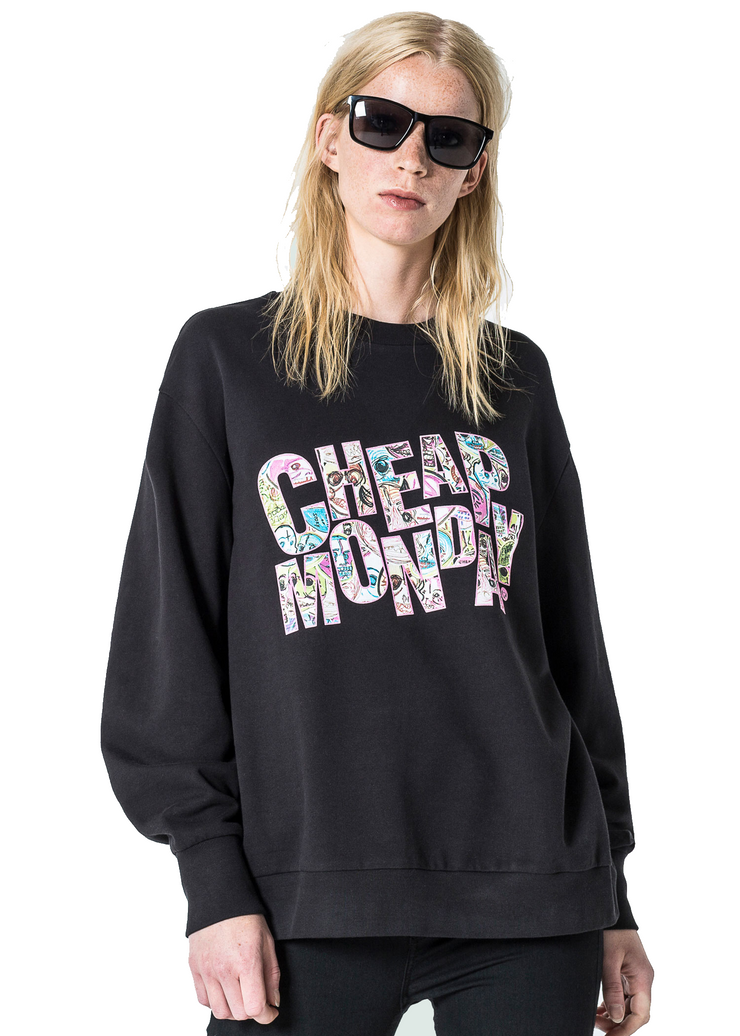 Cheap Monday Con *Organic Sweat (Black) - ChicStyle