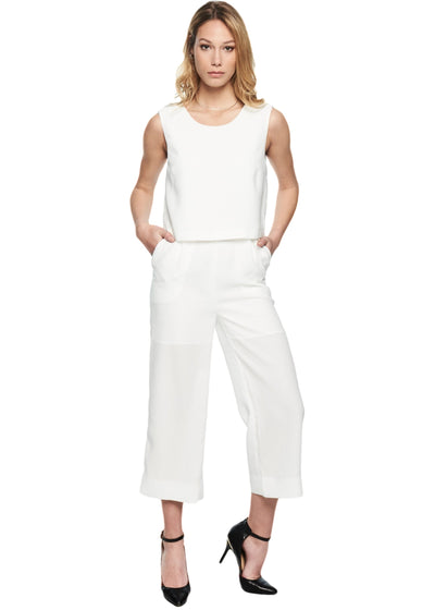 Just Female Ann Jumpsuit (White) - ChicStyle