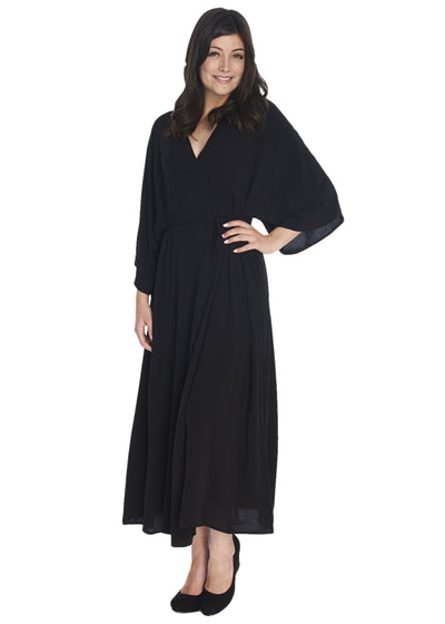 Just Female Dream Long Kimono (Black) - ChicStyle