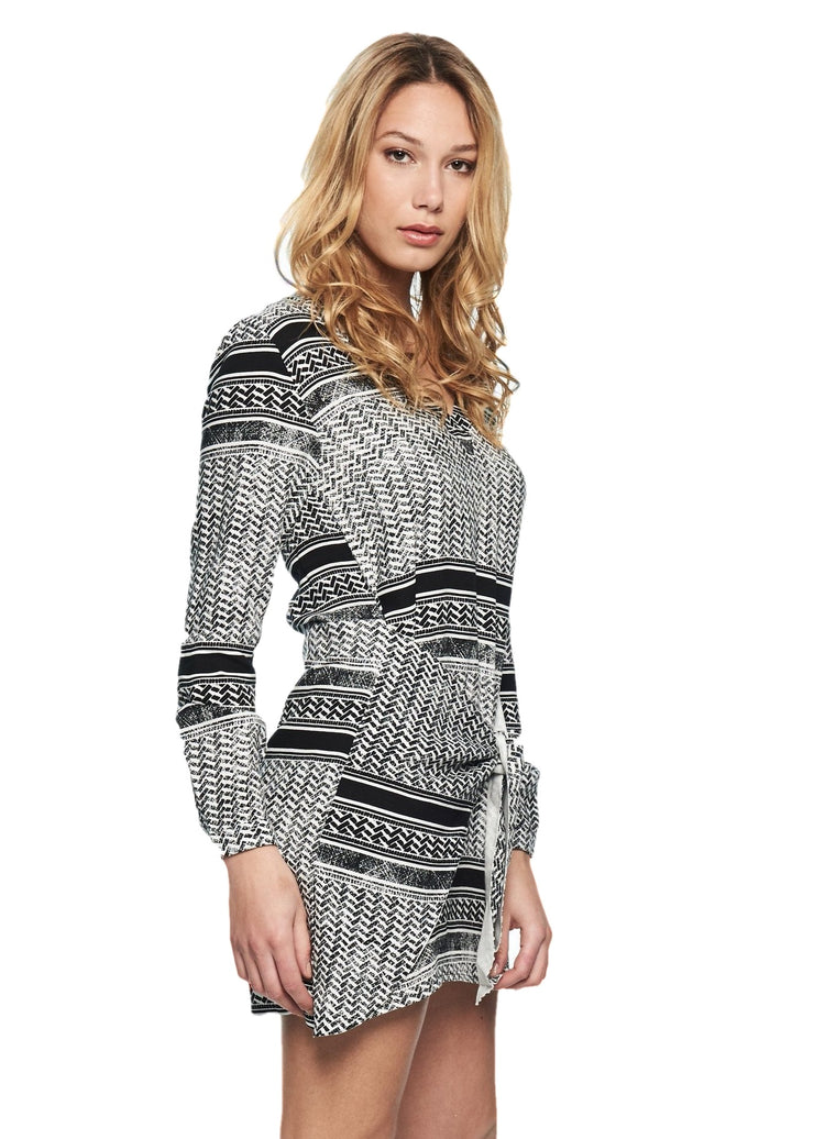 MINKPINK Dreamer Tie Front Dress (Grey) - ChicStyle