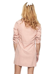 MINKPINK Empire Zip Front Dress (Pink) - ChicStyle