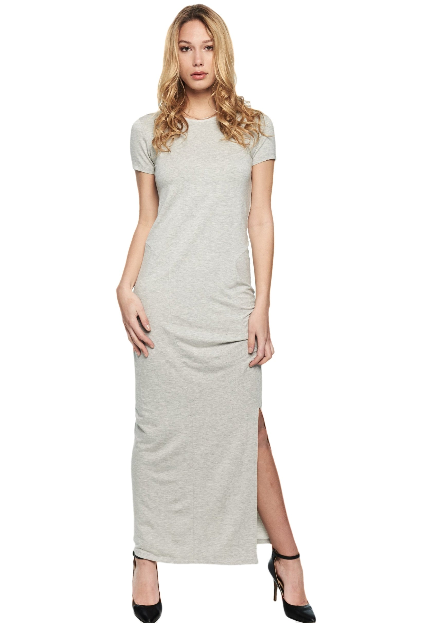 Just Female Goa Dress (Grey Melange) - ChicStyle