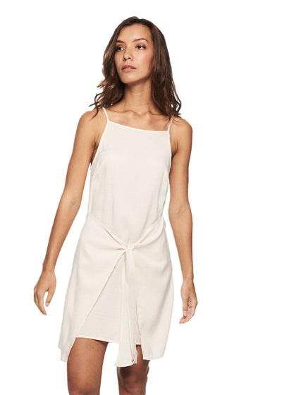 MINKPINK Island Tie Front Dress (White) - ChicStyle