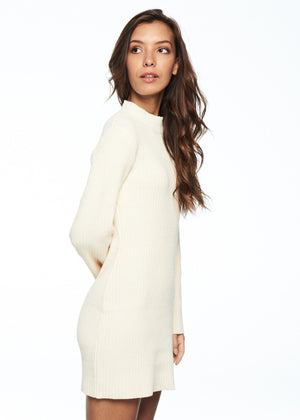 Dresses - Open Arms Jumper Dress (White)