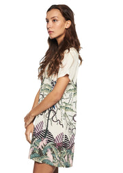 MINKPINK Sumatran Jungle Tee Dress (Multicolor) - ChicStyle