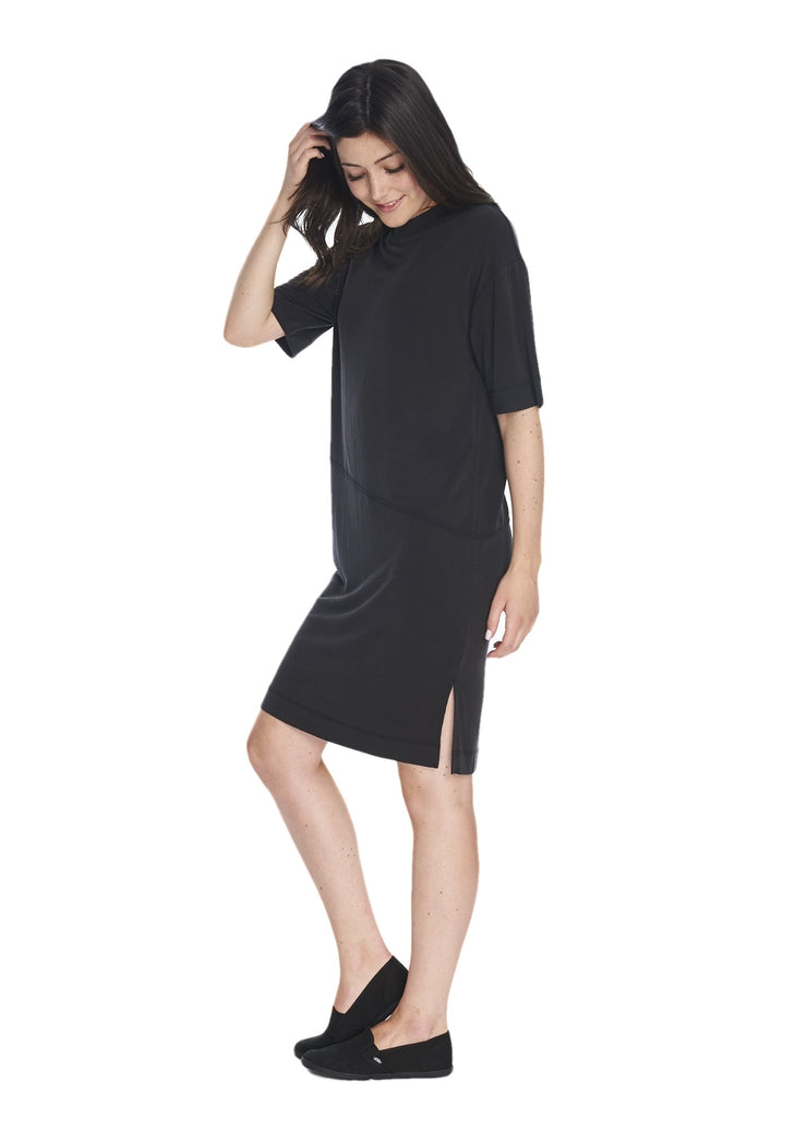 Just Female Taro Tee Dress (Black) - ChicStyle