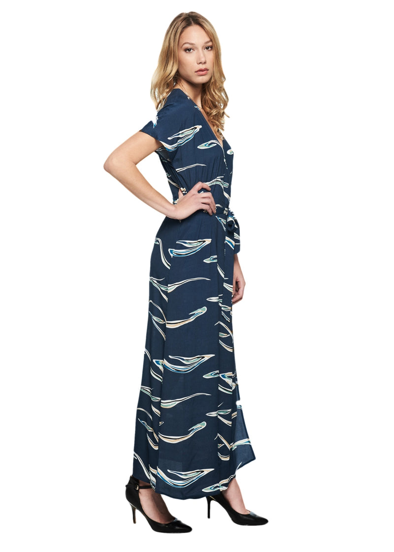 Just Female Years Maxi Dress (Blue) - ChicStyle