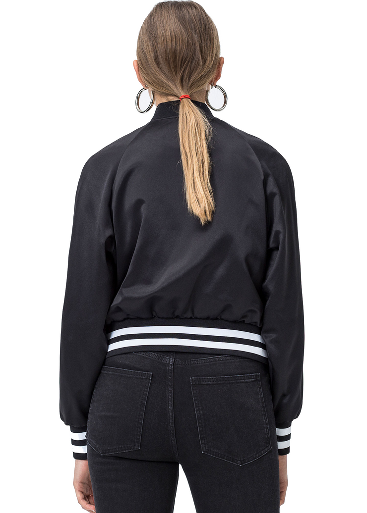 Cheap Monday Heart Bomber Jacket (Black) - ChicStyle