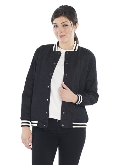MINKPINK Emotional Denim Bomber (Black) - ChicStyle