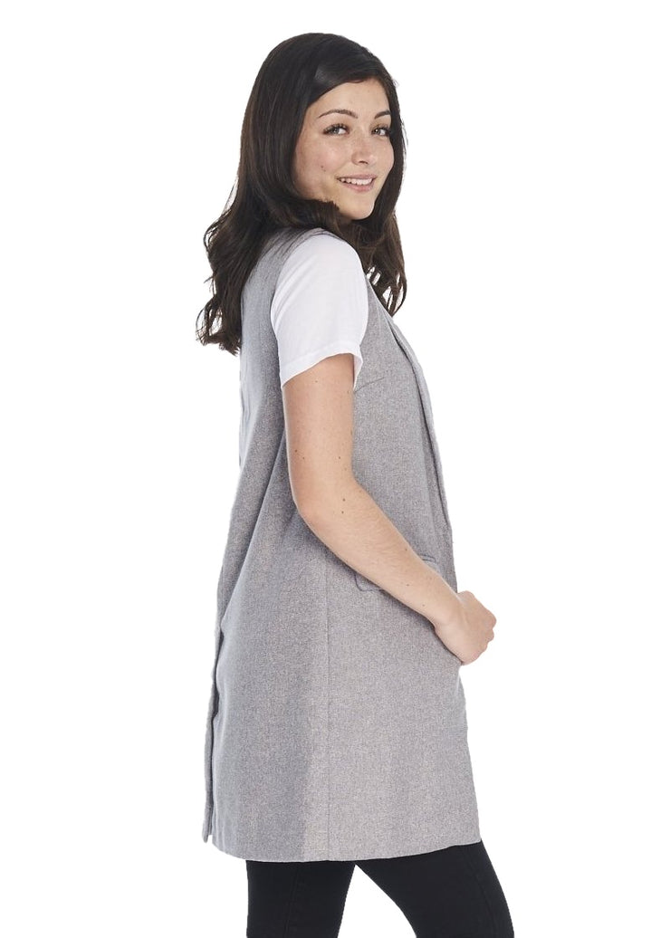 MINKPINK Twill Vest (Grey Marle) - ChicStyle