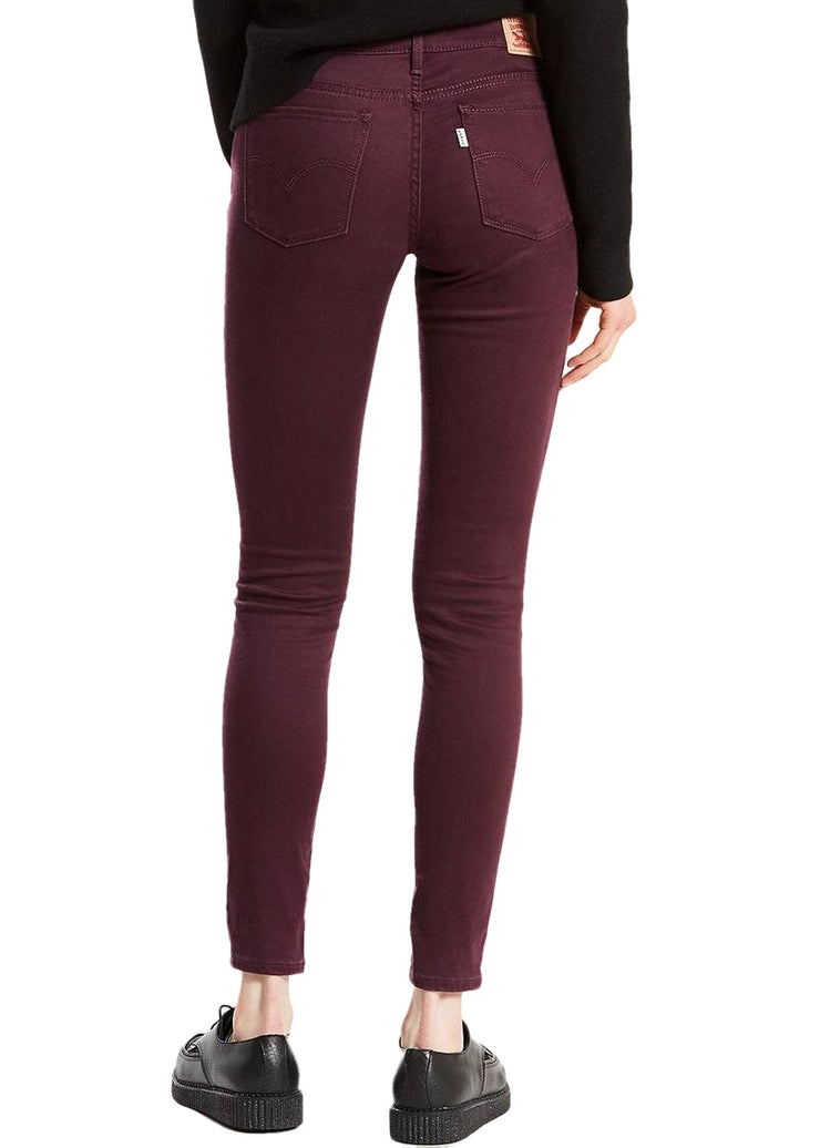 Levi's 710 Super Skinny Super Soft (Malbec/Red) - ChicStyle