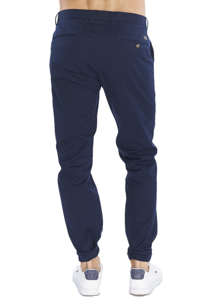 Ben Sherman Marl Twill Trousers (Blue) - ChicStyle