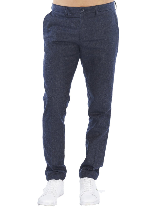 Ben Sherman Micro Texture Trouser (Navy) - ChicStyle