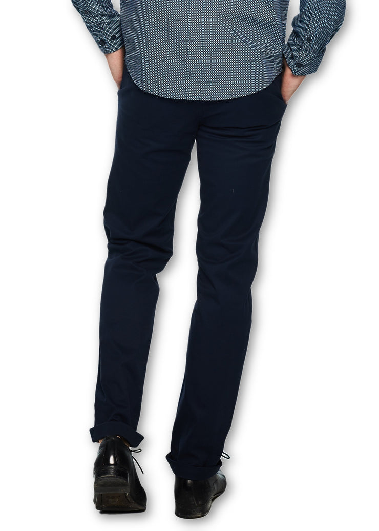 Ben Sherman Slim Stretch Chino (Navy) - ChicStyle