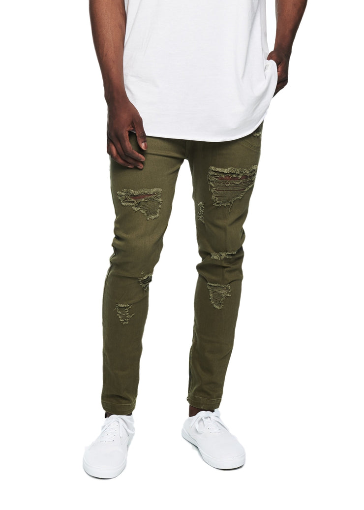 I Love Ugly Zespy Pant Denim (Olive) - ChicStyle