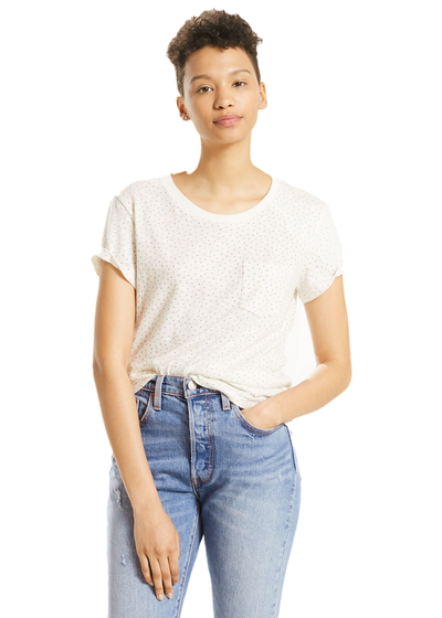 Levi's The Perfect Pocket Tee (Corydalis Marsmallow) - ChicStyle