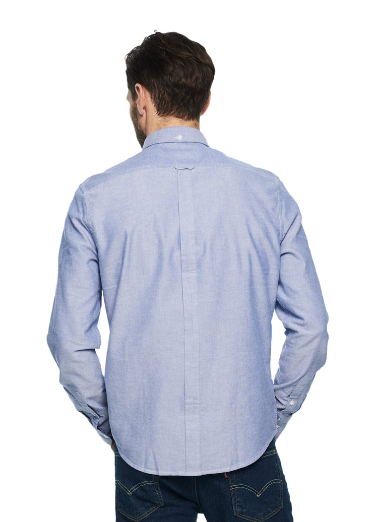 Ben Sherman Long Sleeve Classic Oxford (Classic Navy) - ChicStyle