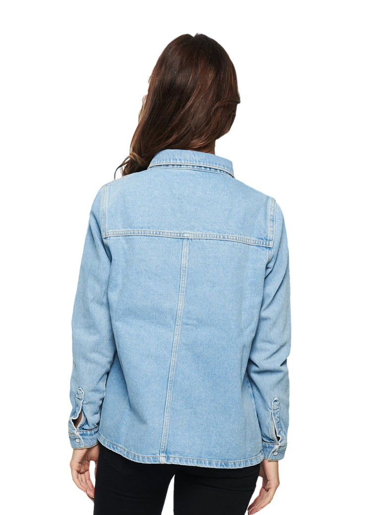 Just Female Luna Denim Shirt (Blue Denim) - ChicStyle