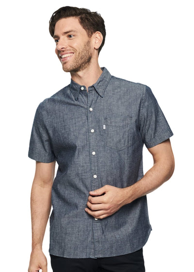 Levi's Small Sleeve Sunset 1 Pocket Shirt (Guardsman Chambray Wash) - ChicStyle