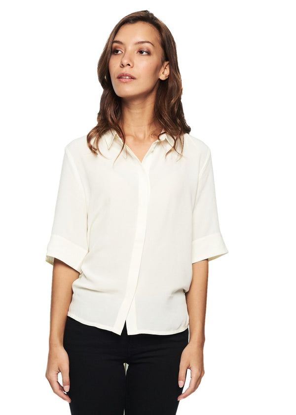 Just Female Specter Tie Shirt (Dream White) - ChicStyle