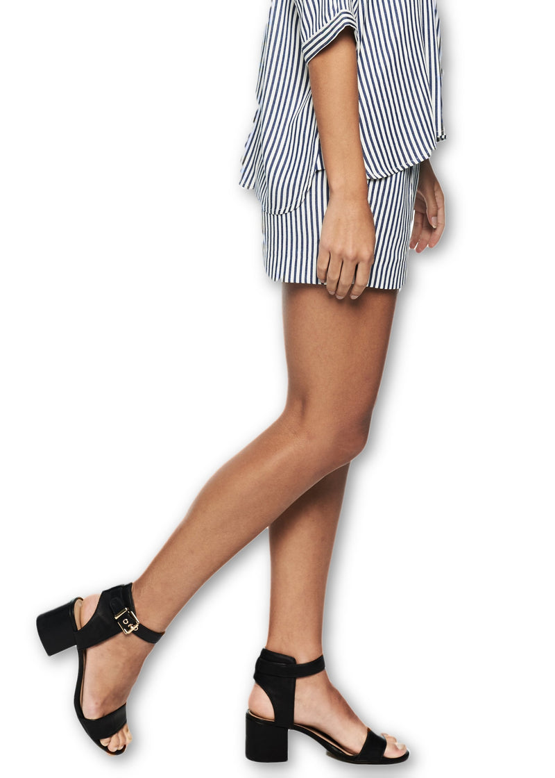 Just Female Beach Short (Blue Stripe) - ChicStyle