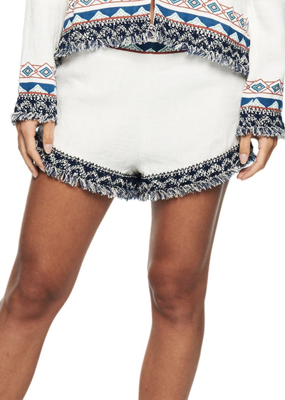 MINKPINK Snake Charmer Shorts (White) - ChicStyle