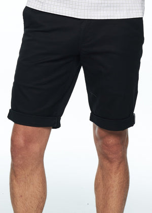 Shorts - Stretch Slim Chino Short (Black)