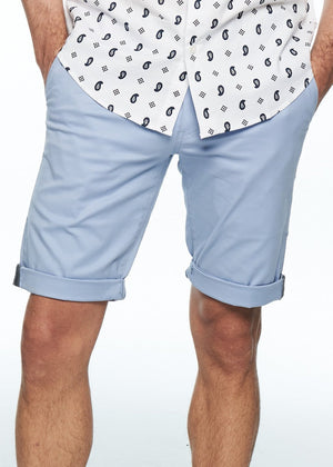 Shorts - Stretch Slim Chino Short (Light Blue)
