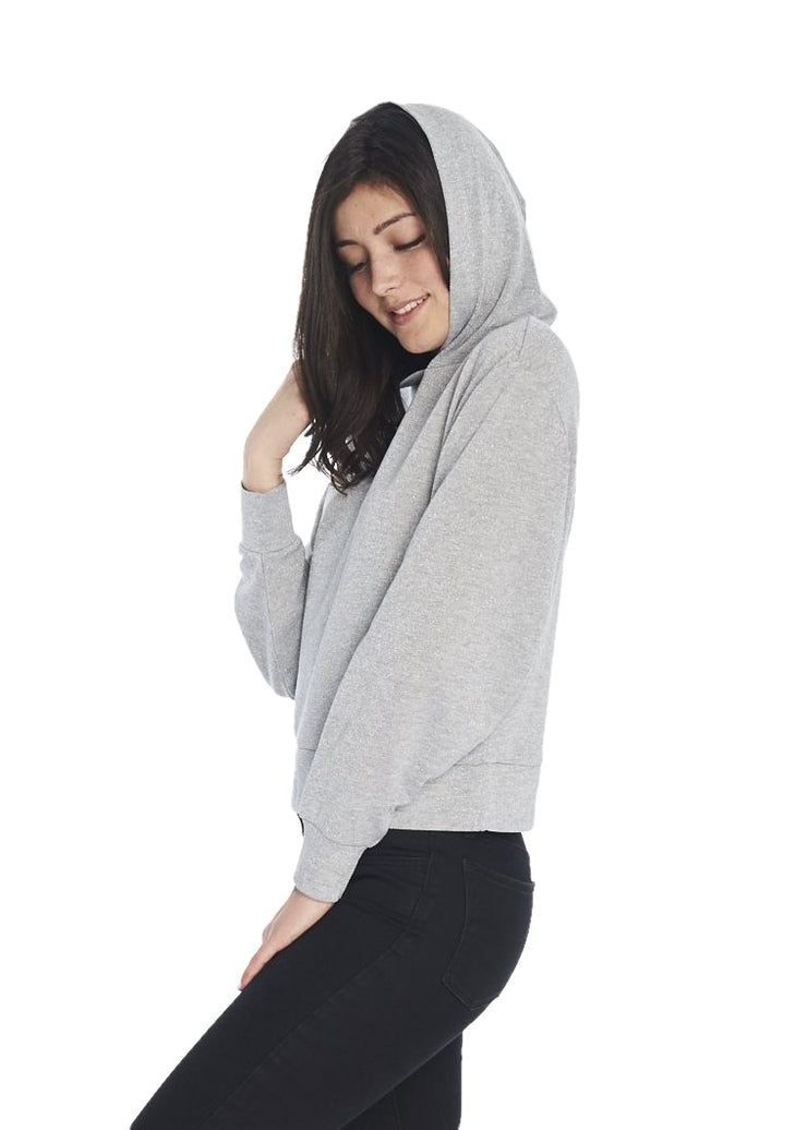 Cheap Monday Attract Glitter Hood (Grey Melange) - ChicStyle