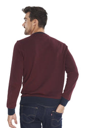 Ben Sherman Tipped Honey Pique Sweat (Rust) - ChicStyle