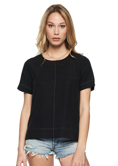 Just Female Alba Tee (Black) - ChicStyle