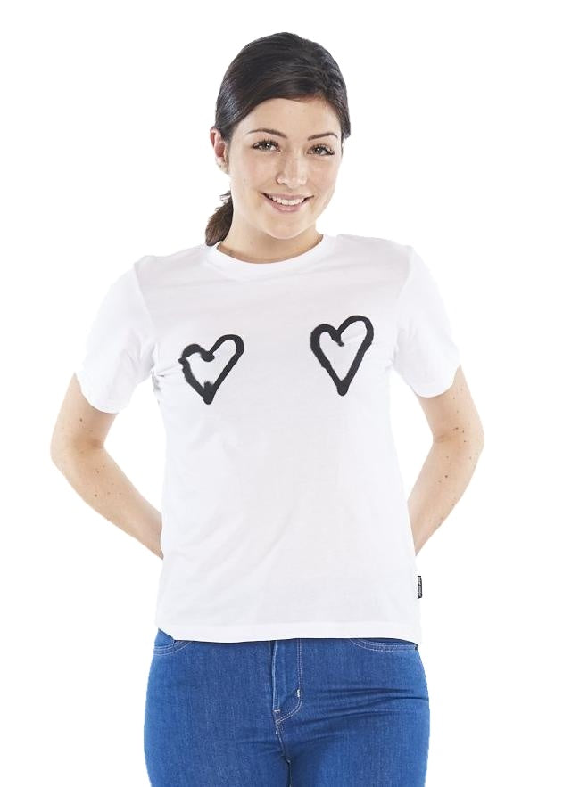 Cheap Monday Breeze Tee Double Love (White) - ChicStyle