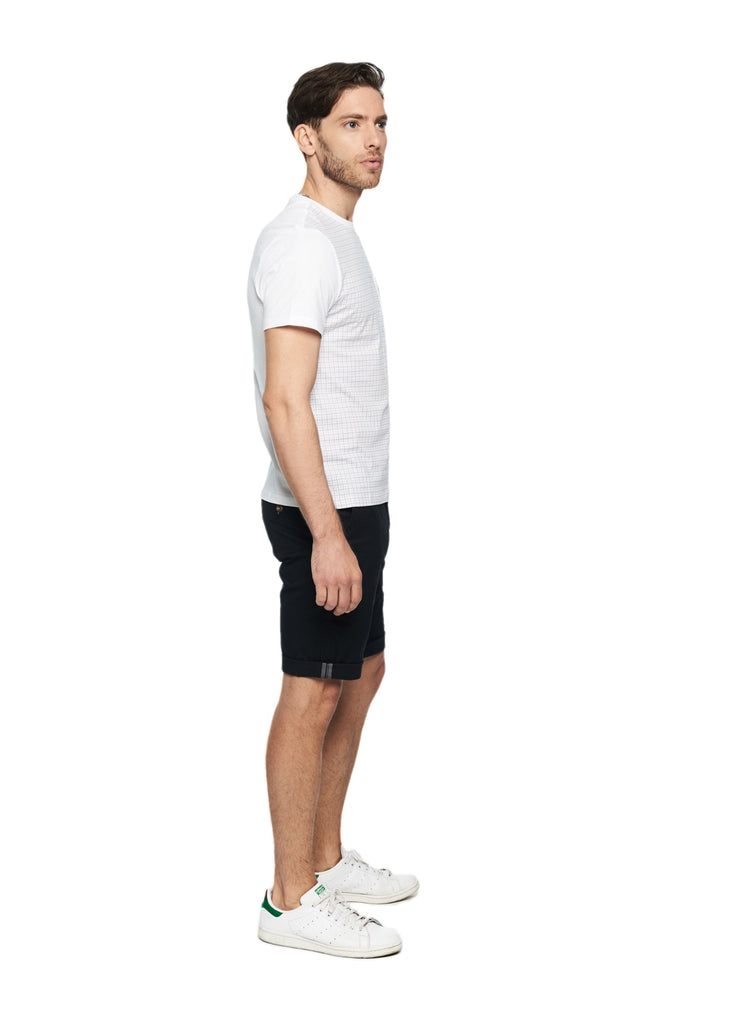 Ben Sherman Gingham Front Tee (Bright White) - ChicStyle
