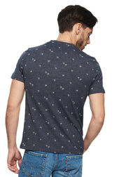 Ben Sherman Palm Tree Print Tee (Navy Blazer) - ChicStyle