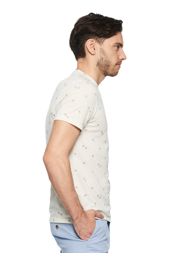 Ben Sherman Palm Tree Print Tee (White) - ChicStyle